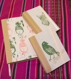 Cuadernos artesanales // estampado por xilografía .-10*15cm .-.15*21cm-.