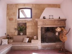 Stone fireplace in #Lecce, #Apulia, #Italy