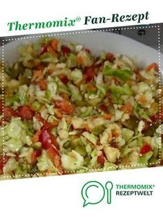 Ein Thermomix ® Rezept aus der Kategorie Vorspeisen… WMPGA salad from Thermimaus. A Thermomix ® recipe from the starters / salads category www.de, the Thermomix ® community. Chicken Recipes For Kids, Chicken Pasta Recipes, Healthy Chicken Recipes, Healthy Dinner Recipes, Recipe Chicken, Chicken Salad, Pasta Salad, Appetizer Salads, Healthy Appetizers