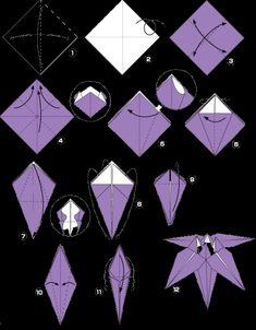 Beautiful DIY origami flower