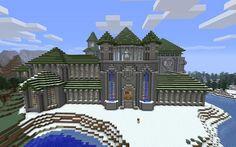 #minecraft #castle in the snow Unique idea.