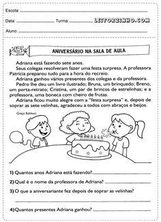 Interpretação de texto para educação infantil