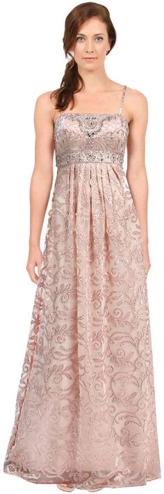 Sue Wong - N5338NM in Champagne Evening Gown   Evening Gowns ...