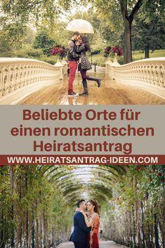 Welche Orte für einen romantischen Heiratsantrag sind dafür am besten geeignet und sorgen für ein romantisches Ambiente?
