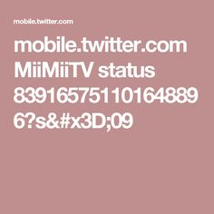 mobile.twitter.com MiiMiiTV status 839165751101648896?s=09