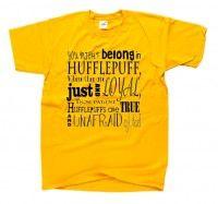 Koszulka z nadrukiem HUFFLEPUFF PIEŚŃ pieśni domów potterheads