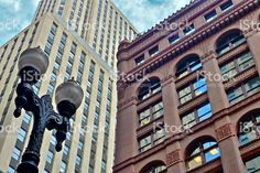 Chicago-Rookery, gros plan, architecture royalty-free stock photo