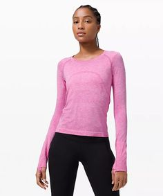 athletic apparel + technical clothing | lululemon Thermal Long Sleeve, Long Sleeve Tops, Long Sleeve Shirts, How To Run Longer, Lululemon, Casual, Sleeves, Mens Tops, Clothes