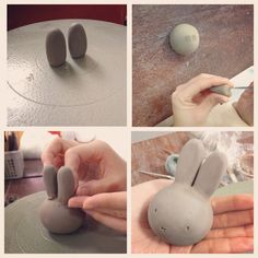How to make a clay Miffy - Renee