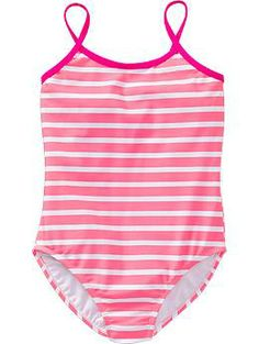 Girls Striped Swimsuits | Old Navy