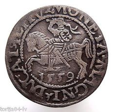 Medieval Hammered Large Silver Coin 1559 AD