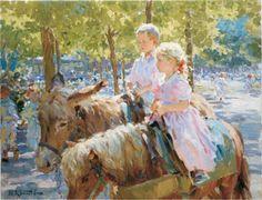russian impressionism | Yuri Krotov 1964 | Russian impressionist