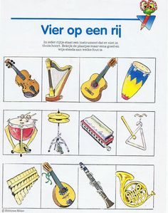 -soorten instrumenten Old Music, Wolf, Music Theory, Bingo, Musical Instruments, Back To School, Musicals, Clip Art, Opera