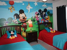 Great mickey mouse bedroom ideas for kids. #Kids #Bedrooms #MickyMouse