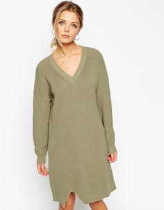 ASOS Jumper Dress With Front Split
