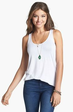 BP. Racerback Cotton Tank (Juniors) available at #Nordstrom