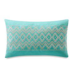 Echo Design™ Mykonos Oblong Teal Toss Pillow