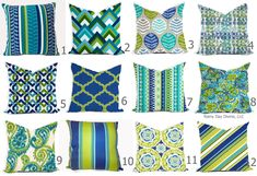 In this listing:  1 Pillow Cover in Your Choice of Fabric (Please make your selection from the swatches shown) Zipper Closure Same fabric on both sides Professionally finished Insert Not Included  This fabric is very durable. I love that you can zip these covers off and throw them in the washing machine. These are outdoor fabrics which are rated to 500 UV hours fade resistance, water, mold, and stain resistant. Additional Items Available:  Add piping, flange, fringe, trim, tassel, braid to…
