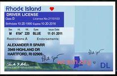 Template RHODE ISLAND drivers license editable photoshop file .psd
