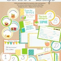 School Days Printables and Labels