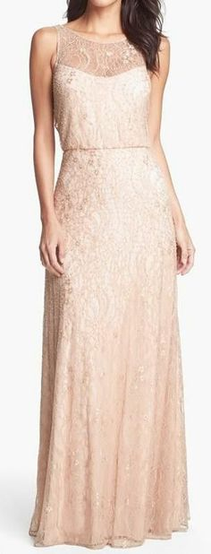 Blush beaded gown