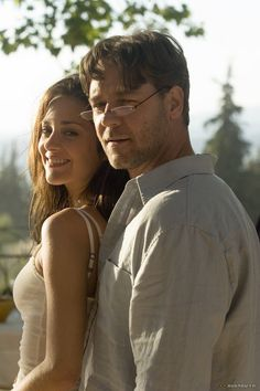 """Russell Crowe & Marion Cotillard in Provence. I absolutely fell in love with her in the movie they did together, """"A Good Year""""."""