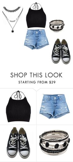 """""""Sin título #507"""" by guiwerlen on Polyvore featuring moda, River Island, rag & bone/JEAN, Converse y Forever 21"""