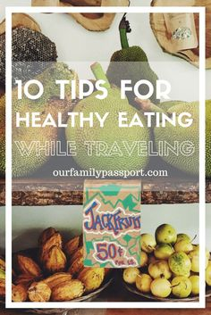 TRAVEL TIPS | Traveling is so fun because it gets us out of our routinee and we get to experience something new! While everyone wants new experiences, we most certainly do not want new pounds. See this excellent guest post on how to stay healthy AND have fun eating while traveling! | healthy lifestyle, healthy eating, health, food, travel, balanced eating, healthy eating tips, while traveling,  how to eat healthy, diet, fresh fruit ideas, healthy eating ideas, travel healthy