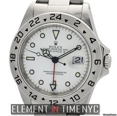 Rolex Explorer II Stainless Steel White Dial 40mm A Series Ref. 16570 Price On Request