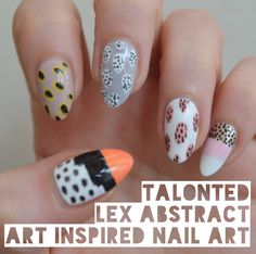 Beautiful abstract art #nailart inspired by Ashley Goldberg in pastel colours
