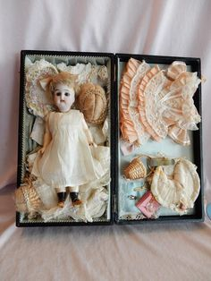 SO pretty and display ready. A wonderful 7 Kammer Reinhardt 192 Dolly with sleep eyes and perfect bisque. Her original compo body still has original