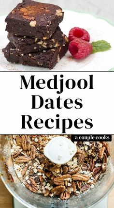 Here are all the best Medjool dates recipes! This chewy, caramely fruit is perfect for naturally sweet treats like brownies, energy bars and smoothies. Date Recipes Healthy, Healthy Protein Snacks, Healthy Desserts, Dessert Recipes, Healthy Shakes, Healthy Breakfasts, Date Recipes Breakfast, Date Recipes Desserts, Diabetic Desserts