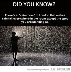 Control the weather in the Rain Room at the Curve, Barbican Centre, London Places to travel 2019 If this is true, it is now on my bucket list. Oh The Places You'll Go, Places To Travel, Places To Visit, Travel Stuff, Hotel Lanzarote, The Last Summer, Just Dream, Before I Die, I Want To Travel