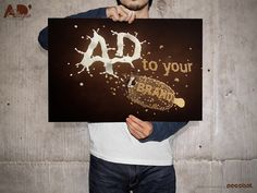 AD to your brand Slogan 2 on Behance #3D #typography