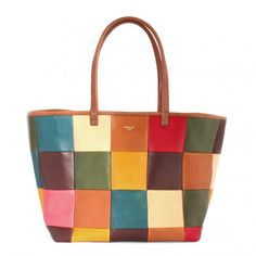 MOZAIC TOTE BAG - LEATHER ARTS & CRAFTS MOTO