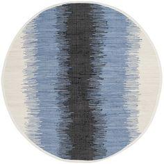 Safavieh Hand-woven Montauk Grey/ Black Cotton Rug (6' Round)
