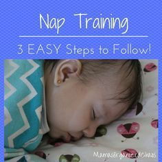 Getting your baby to nap on time, in their crib, and falling asleep on their own using our nap training guidelines.