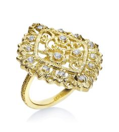 Penny Preville - Lace Collection 18K Yellow Gold Diamond Lace Ring