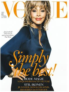 Simply The Best! Cover-star Tina Turner in Giorgio #Armani