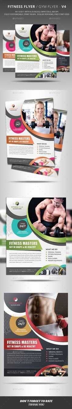 Fitness Flyer - Sports Events - PSD - #Club - #Health - #Fitness  #Flyer - #Commerce  I Download: https://graphicriver.net/item/fitness-flyer/12578265?ref=jpixel55