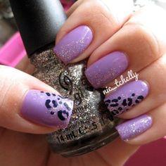Purple + cheetah + glitter = yes, yes, yes!