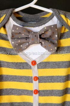 Dapper little boy cardigan with bow tie by EmbraceEthiopia on Etsy, $25.00