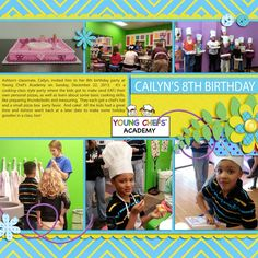 Family Album 2013: Cailyn's 8th Birthday (Ashton) layout by Tina Shaw | Pixel Scrapper digital scrapbooking