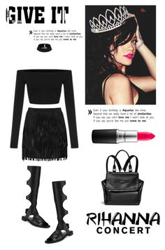 """""""Rihanna Concert"""" by junglover ❤ liked on Polyvore featuring Stuart Weitzman, Givenchy, Alice + Olivia and MAC Cosmetics"""