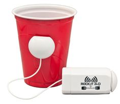 Cool giveaways always increases traffic.  People love to brag about the giveaways they receive.  Like this one.....Rock-It White, turns anything into a speaker!