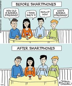 Here's a little Monday Smartphone humour from Maria Scrivan Cartoons to start your week off on the right foot. Barbara Streisand, Don Meme, Then Vs Now, Satirical Illustrations, Powerful Images, Funny Illustration, Humor Grafico, Change, Dankest Memes