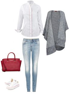 """Outfit, byMi Blouse """"Davos white"""""""