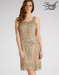 Frock And Frill Embellished Drop Waist Dress