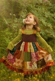 Adorable #Patchwork little #girl #dress