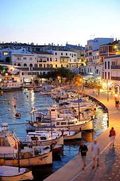 Es castell, menorca - beautiful, friendly fishing town, with pretty shops and restaurants lining the harbour!